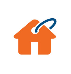 home buy sell or rent logo icon vector image