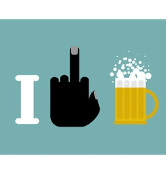 I hate alcohol and beer mug Logo for vector image