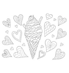 Ice cream lover vector