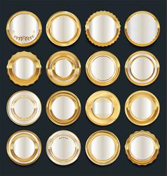 luxury golden design elements collection 2 vector image