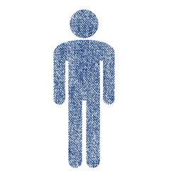 man fabric textured icon vector image