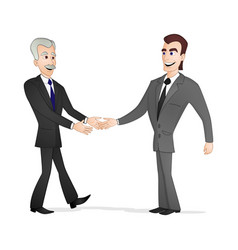 men shaking hands vector image