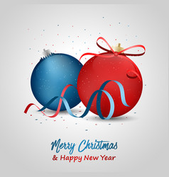 merry christmas and happy new year greeting with vector image