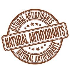Natural antioxidants brown grunge round vintage vector