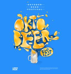 Octobeer fest poster design vector