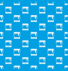 paint can pattern seamless blue vector image