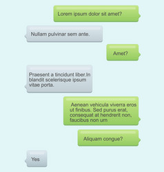 Phone chat bubbles sms vector