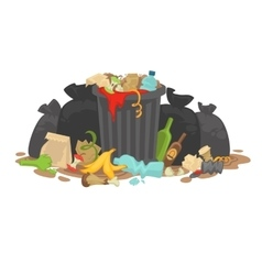 Pile decaying garbage left lying around vector
