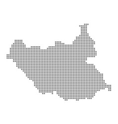 pixel map of south sudan dotted map of south vector image