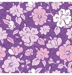 Purple kimono florals seamless pattern vector