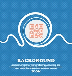 Qr code sign icon Blue and white abstract vector image