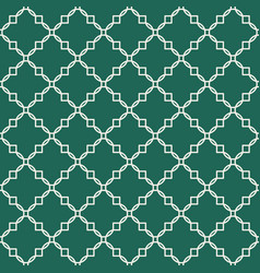 Quatrefoil green seamless pattern vector