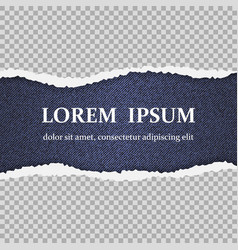 realistic torn paper with ripped edges vector image