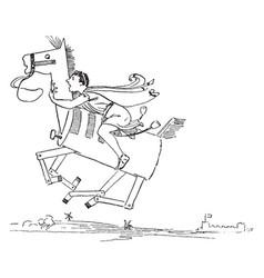 reynard the fox story of cramparts horse vintage vector image