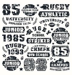 Rugteam typographic elements vector