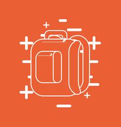 school backpack icon vector image