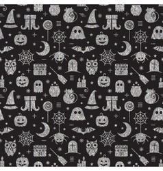 Seamless Halloween silver textured pattern vector
