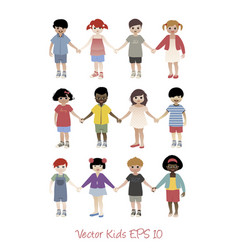 set of avatar children head vector image