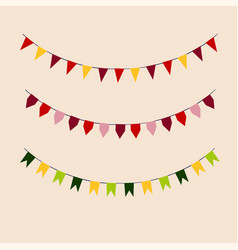 set of colored flags holiday vector image