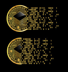 set of crypto currency stratis golden symbols vector image vector image