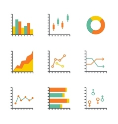 Set statistics icon vector image