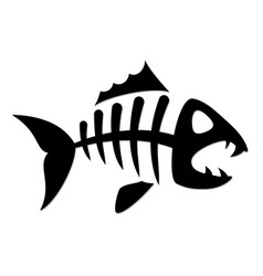 Skeleton fish vector