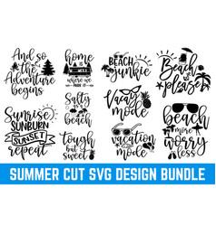 summer typography design bundle svg eps files vector image