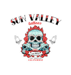 sun valley vector image
