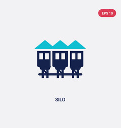 two color silo icon from farming concept isolated vector image