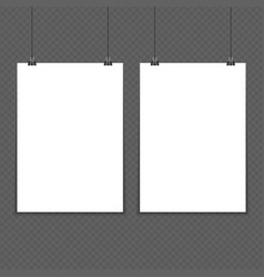 two poster mockup a4 vector image