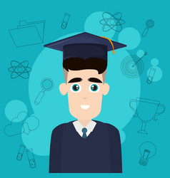 University student cartoon vector