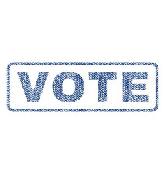 Vote textile stamp vector