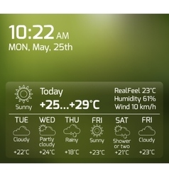 Weather Widget Flat Concept vector