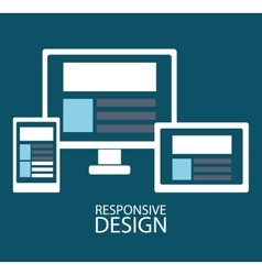 web development design vector image