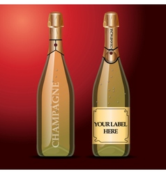 wine bottles mockup with your label here vector image vector image