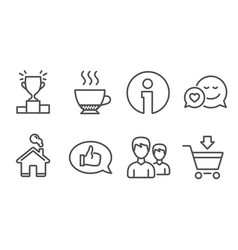 Winner podium feedback and couple icons dating vector