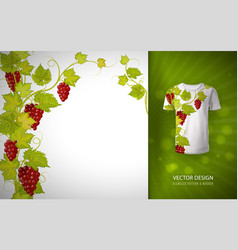 design for shirts blouses t-shirt grapes vector image vector image