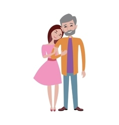 Hugging couple vector image