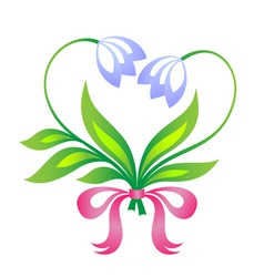 Little floral bouquet in form of heart vector