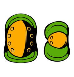 Paintball knee protection icon cartoon vector