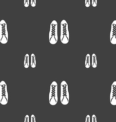 shoes icon sign Seamless pattern on a gray vector image vector image
