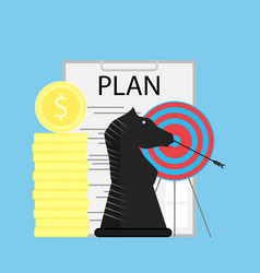 strategy and plan vector image