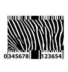 zebra bar code vector image vector image