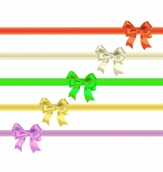 celebratory tapes and bows vector image vector image