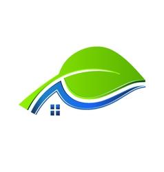 Ecology house logo vector image