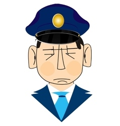 Icon men police vector image vector image