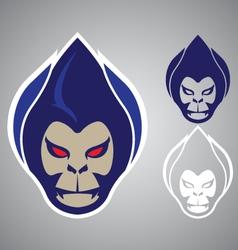 monkey head modern logo emblem vector image vector image