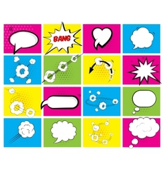 Set of brightly colored speech bubbles vector image vector image