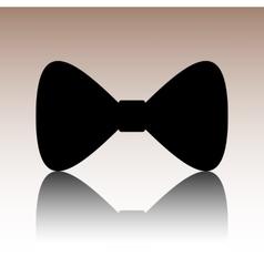 Black Bow Tie icon vector image vector image
