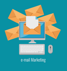 email marketing internet advertising concept vector image